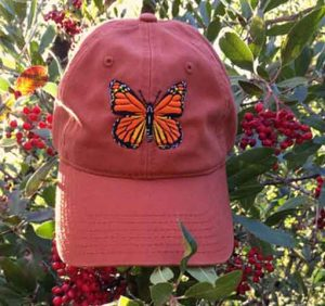 Monarch Butterfly Cap - burnt orange