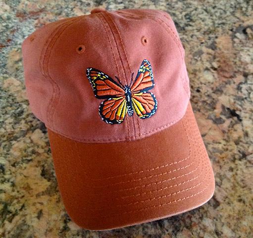 Embroidered Monach Butterfly Cap - Burnt Orange