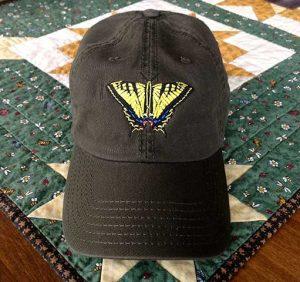 Swallowtail Butterfly Cap - Dark Brown