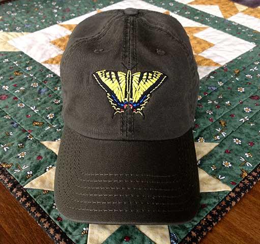 Swallowtail Embroidered Cap - Dark Brown