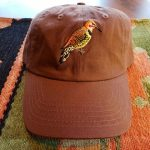 Flicker Bird Hat - Brown Burnt Orange