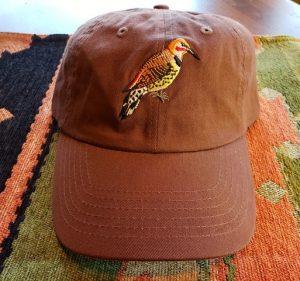 Flicker Bird Hat - Brown Burnt Orange